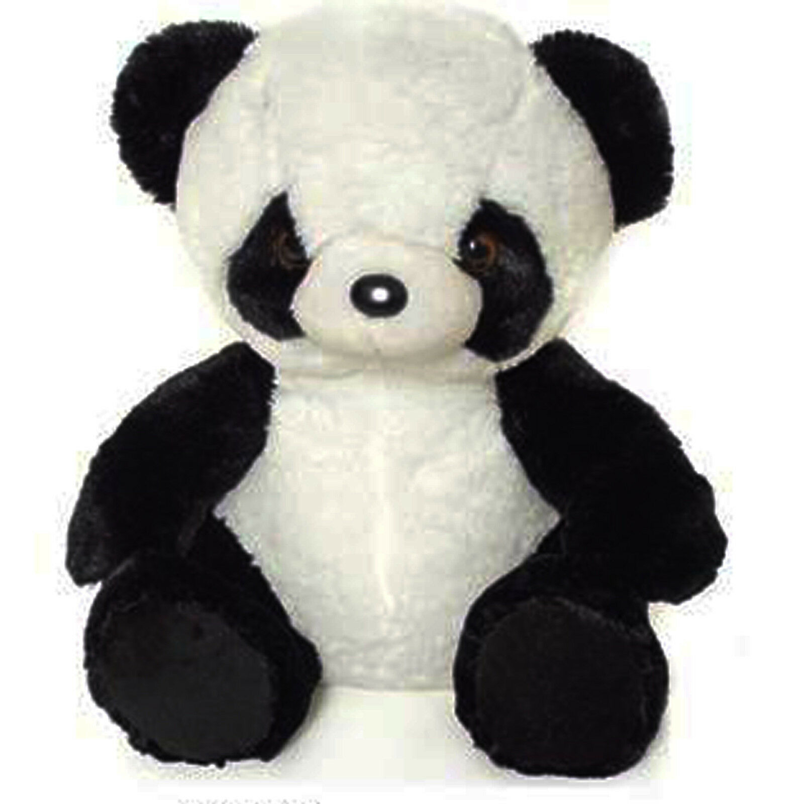Panda peluches morbidissimo nero e bianco circa 43 cm