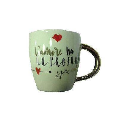 AMORE tazza mug in ceramica L'AMORE HA UN PROFUMO SPECIALE 9,5 cm San Valentino