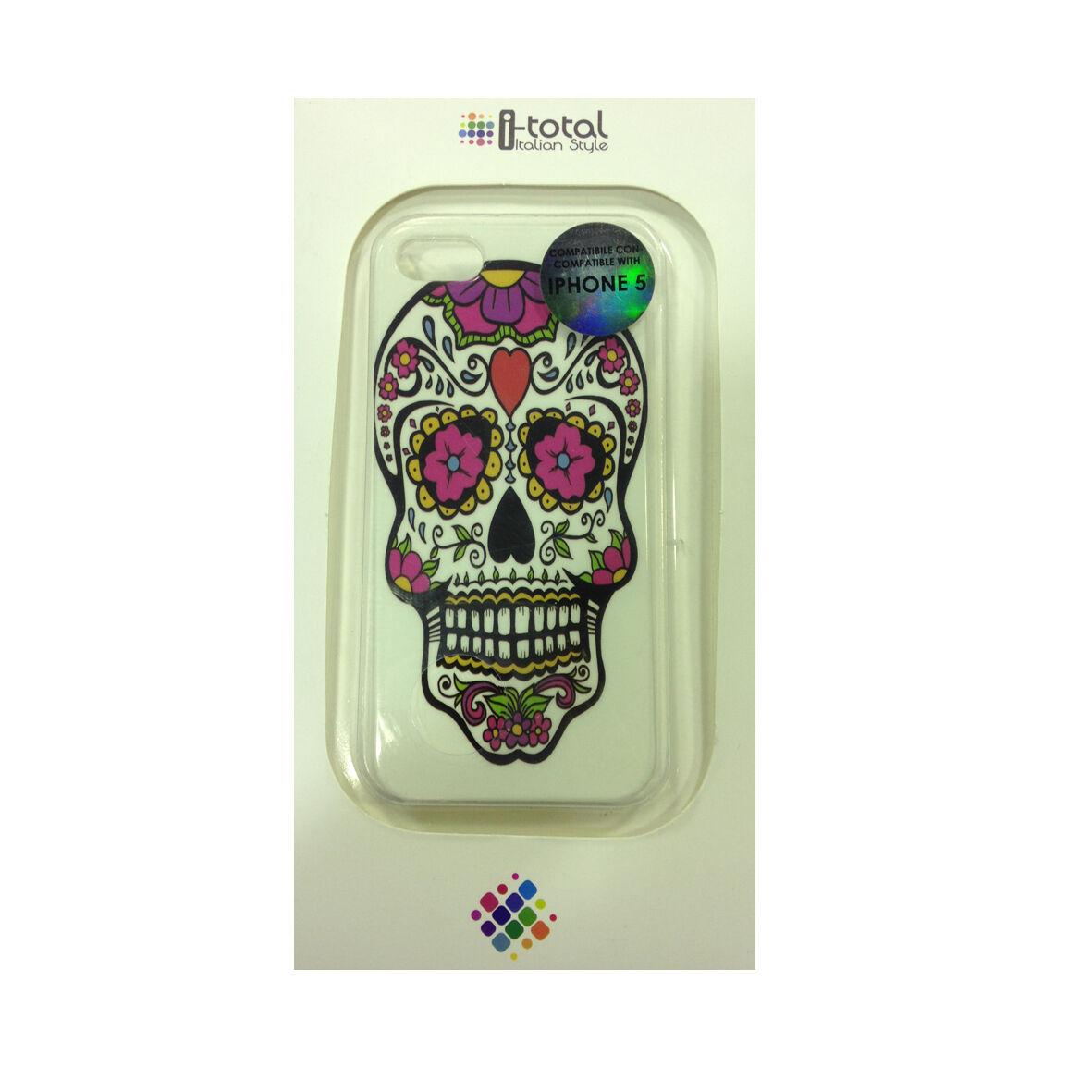 COVER mascherine iphone 5/5S con teschio messicano rigida in plastica I-TOTAL
