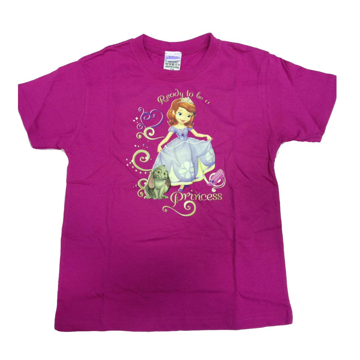 PRINCIPESSA SOFIA t-shirt maglietta fucsia stampata taglia 7/8 anni da bambina