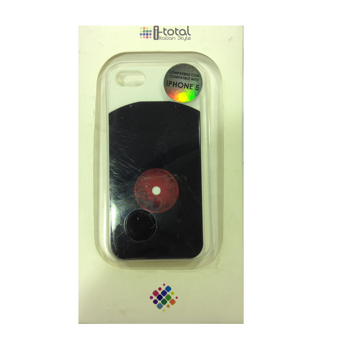 COVER mascherine iphone 5/5S con disco in vinile rigida in plastica I-TOTAL