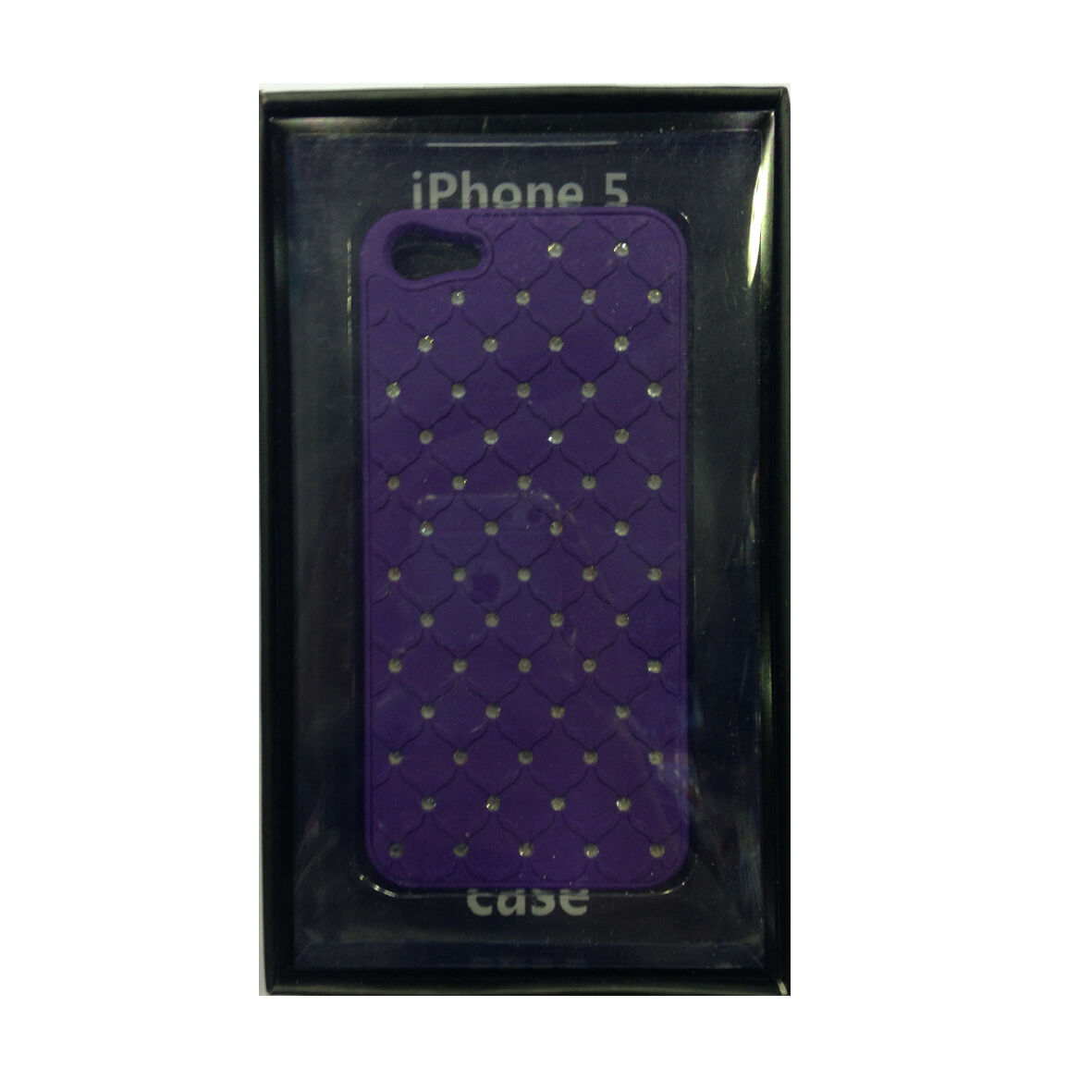 COVER mascherine iphone 5/5S viola con strass rigida in plastica MOOD