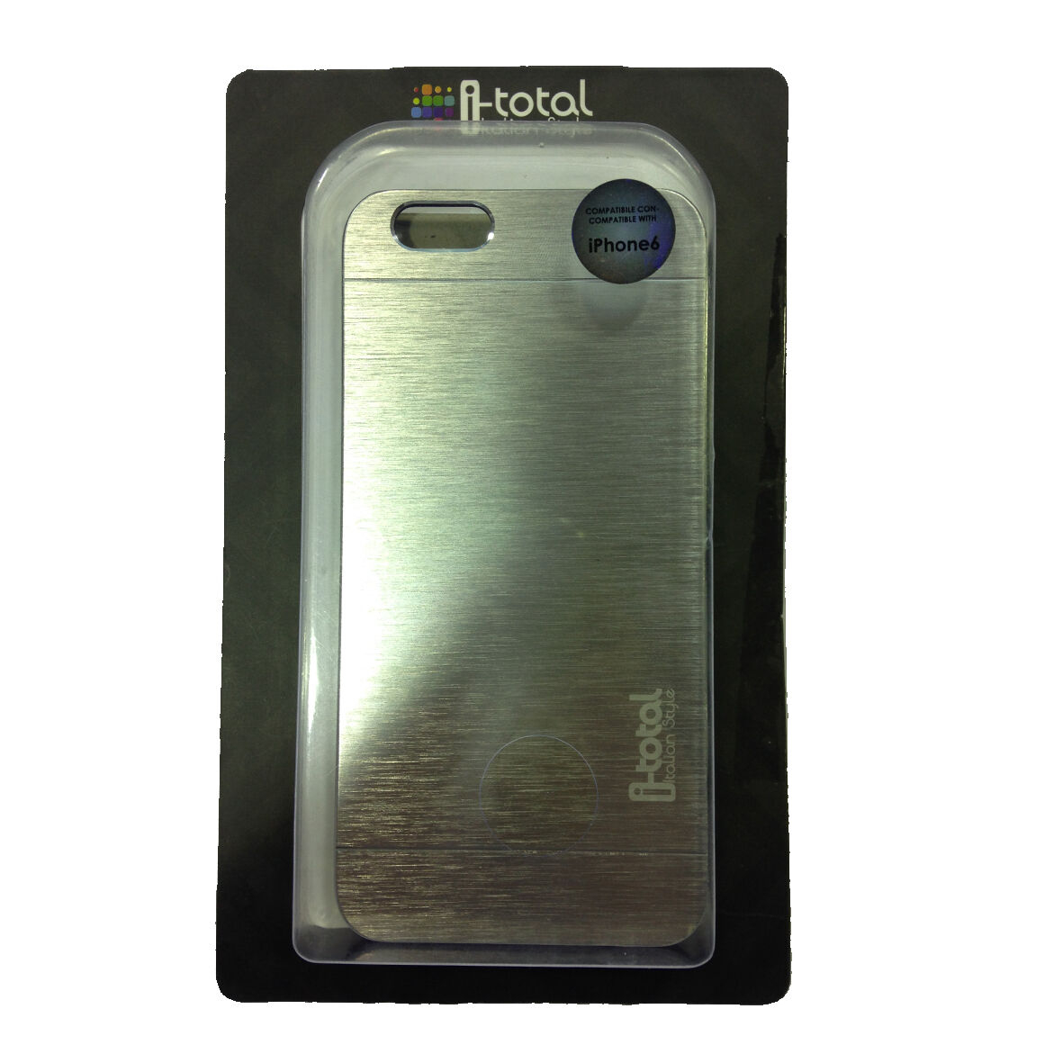 COVER mascherina iphone 6 in alluminio rigida in plastica I-TOTAL