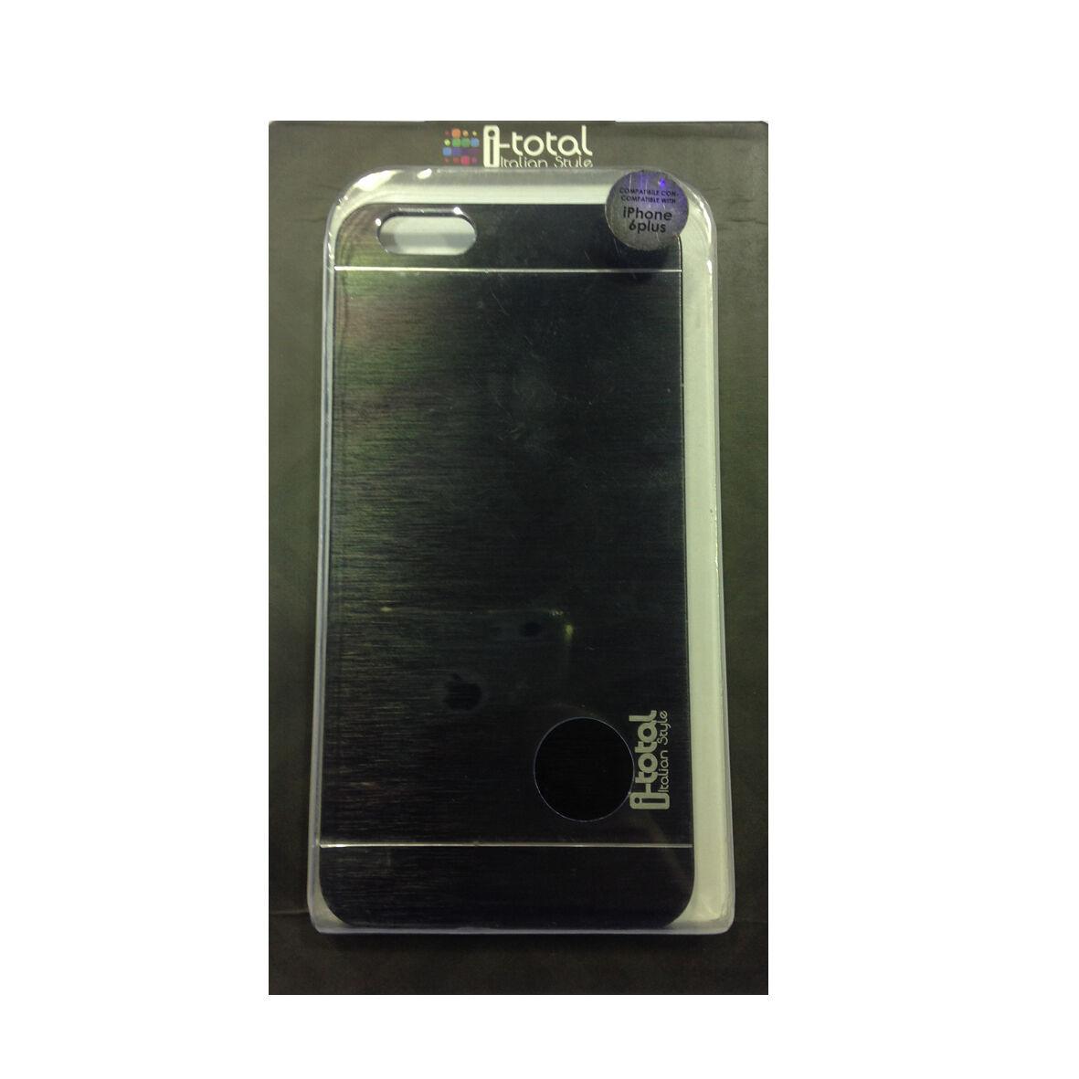 COVER mascherina iphone 6 PLUS rigida in alluminio nero I-TOTAL