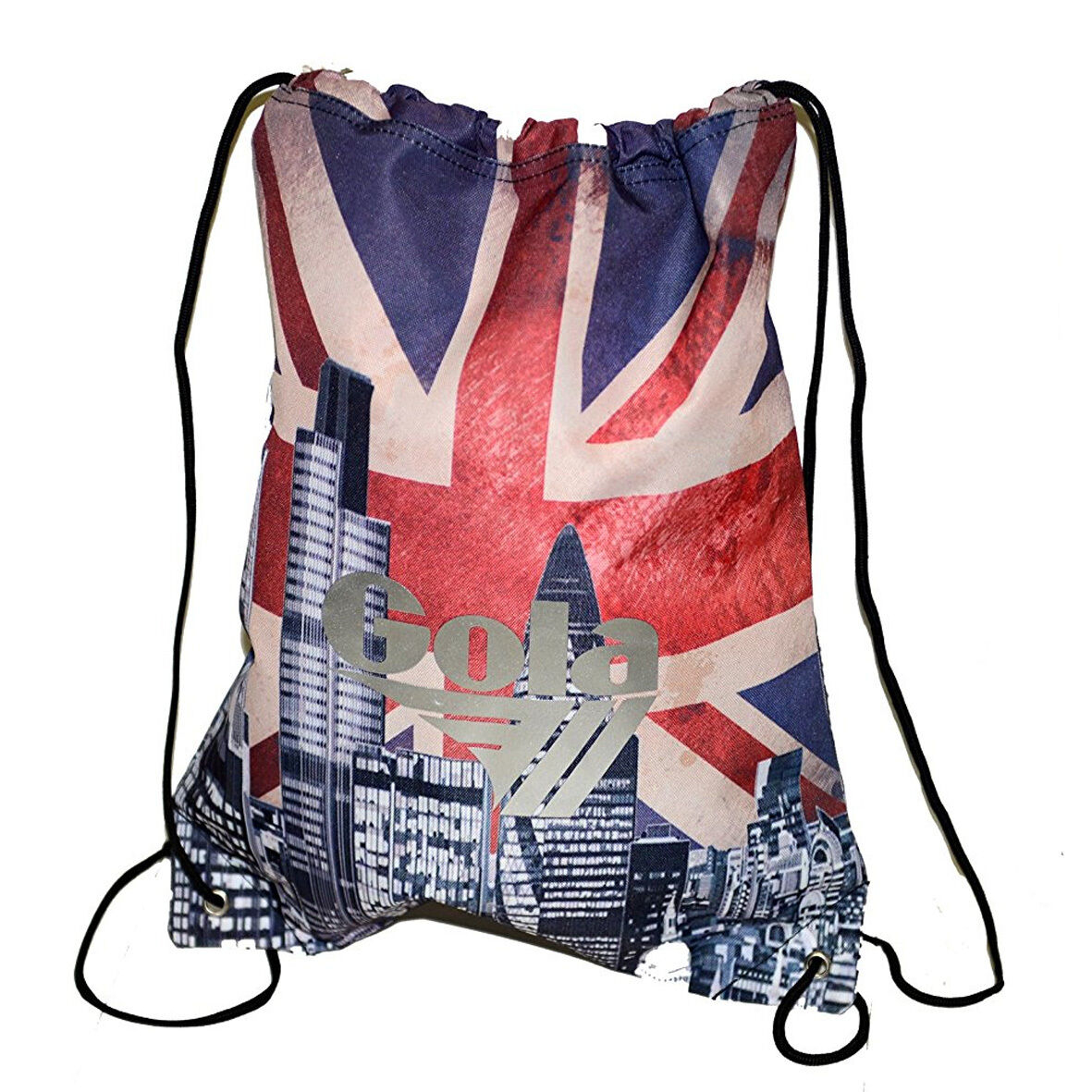 GOLA Sacca zaino coulisse in cordura pesante stampata skyline GRAN BRETAGNA UK