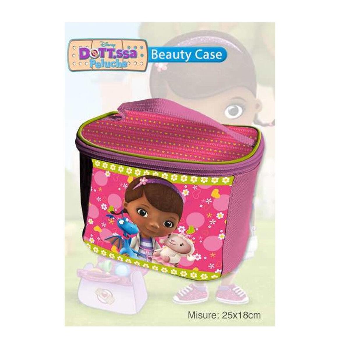 DOTTORESSA PELUCHES borsetta beauty portaoggetti in tessuto con zip rosa fucsia