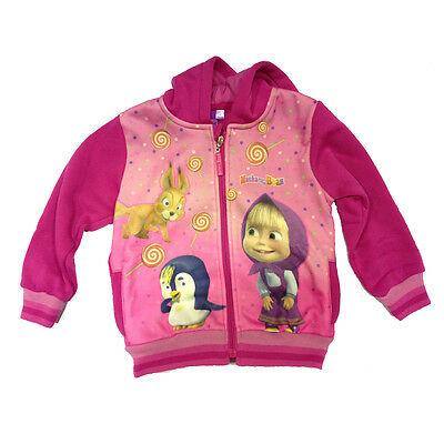 MASHA E ORSO felpa in cotone felpato stampata su davanti varie taglie da bambina
