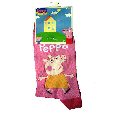 PEPPA PIG Calzini lunghi rosa taglia 31/34 80%cotone 15%poliammide 5%elastan