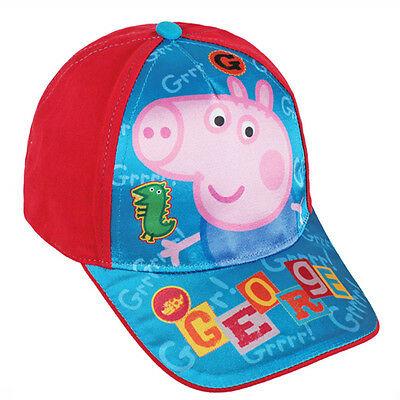 PEPPA PIG cappellino con visiera rosso e blu con stampa effetto lucido da bambin