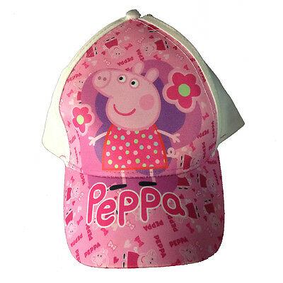PEPPA PIG cappellino con visiera bianco e rosa con stampa effetto lucido da bamb