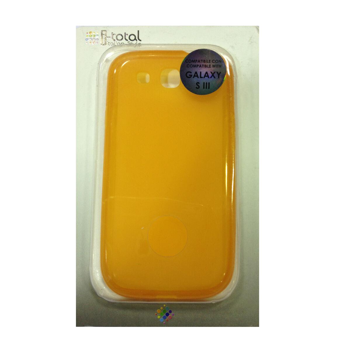COVER mascherina SAMSUNG GALAXY S3 arancione in silicone TPU I-TOTAL