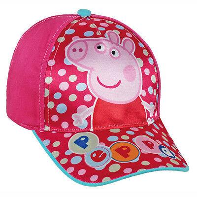 PEPPA PIG cappellino con visiera fucsia e rosa con stampa effetto lucido da bamb