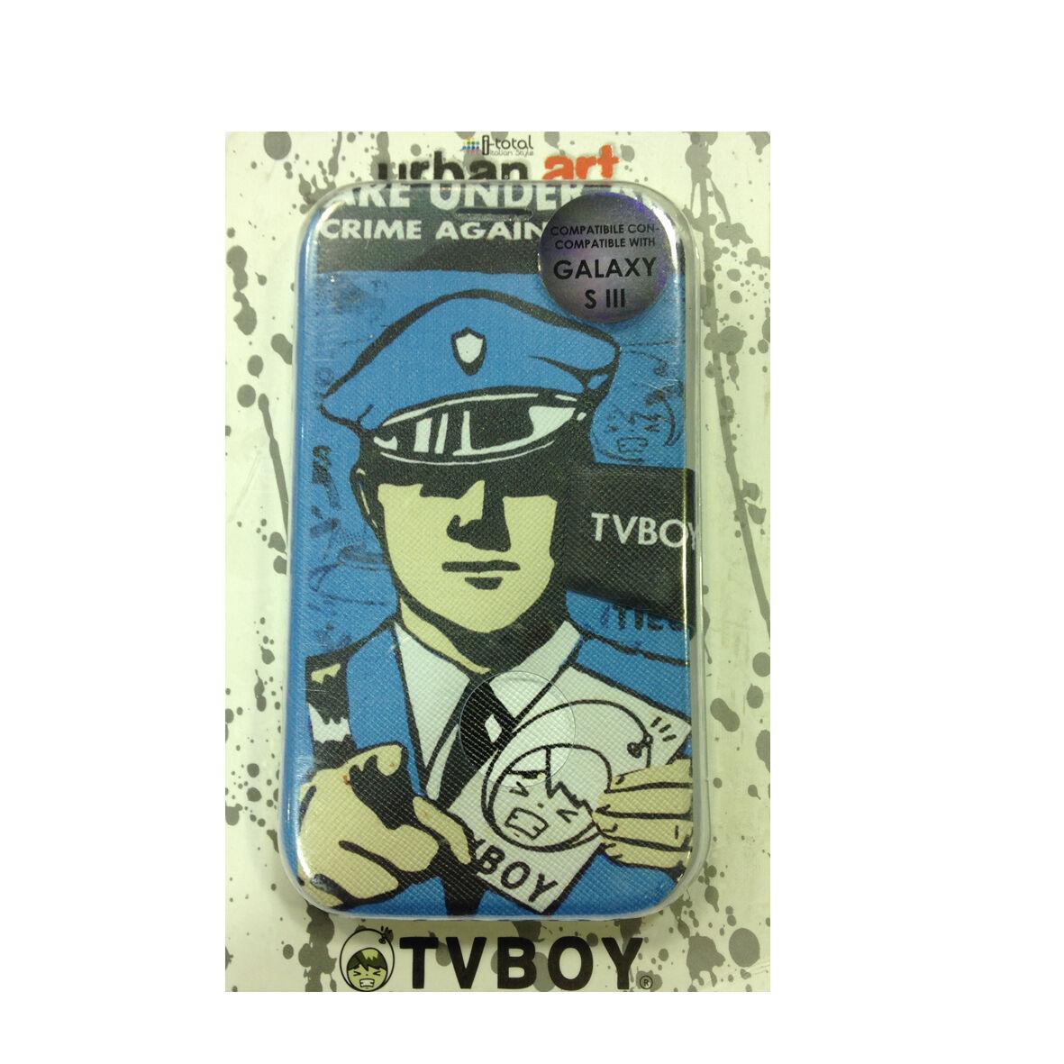 COVER mascherina SAMSUNG GALAXY S3 azzurro disegno vintage a portafoglio