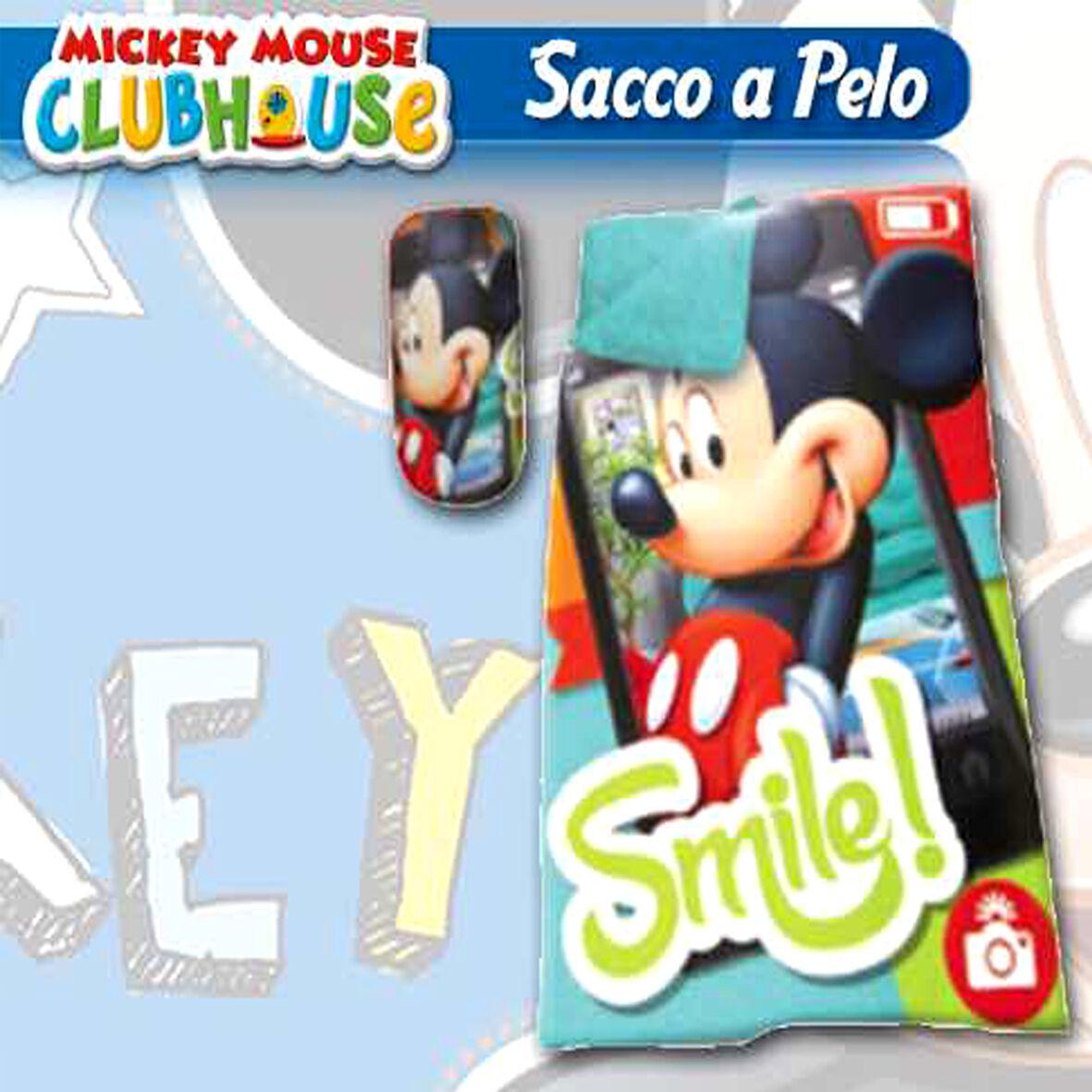 Sacco a pelo Topolino mickey mouse da bambino 100% poliestere