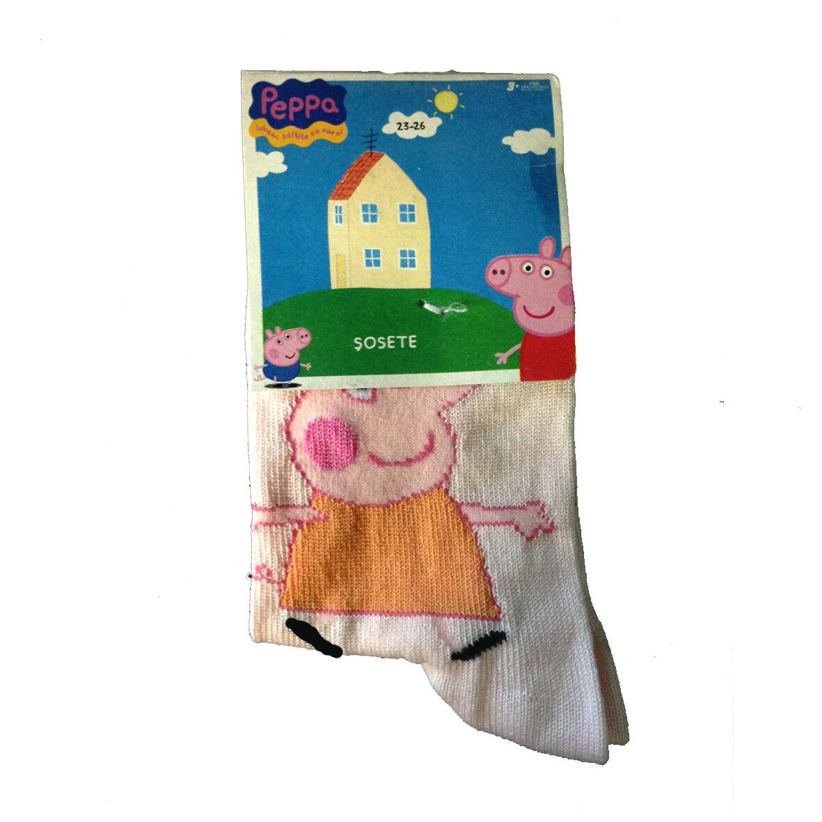PEPPA PIG Calzini lunghi rosa confetto 80%cotone 15%poliammide 5%elastan da bam
