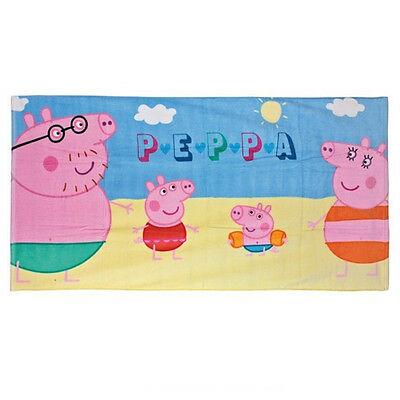 PEPPA PIG telo mare in spugna con tutta la famiglia pig 70x140 cm da bambino
