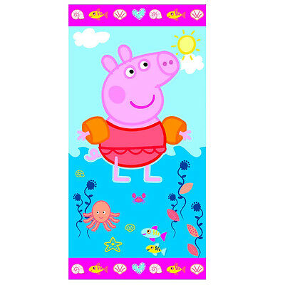 PEPPA PIG telo mare in spugna fantasia 70x140 cm da bambina