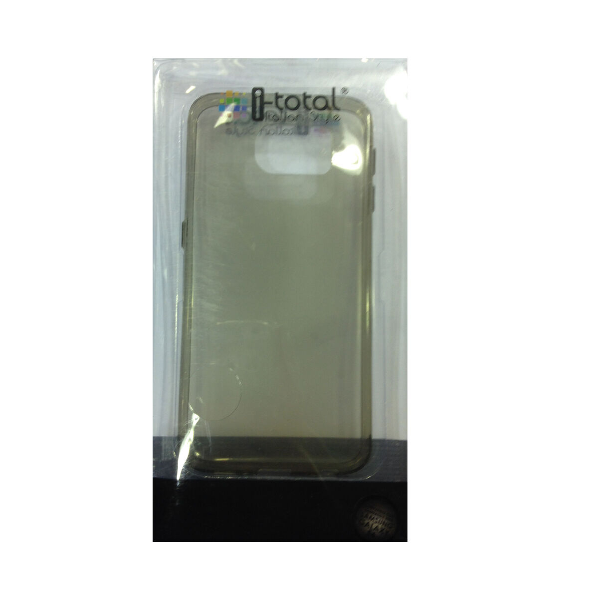 COVER mascherina SAMSUNG GALAXY S6 trasparente nera in silicone TPU I-TOTAL