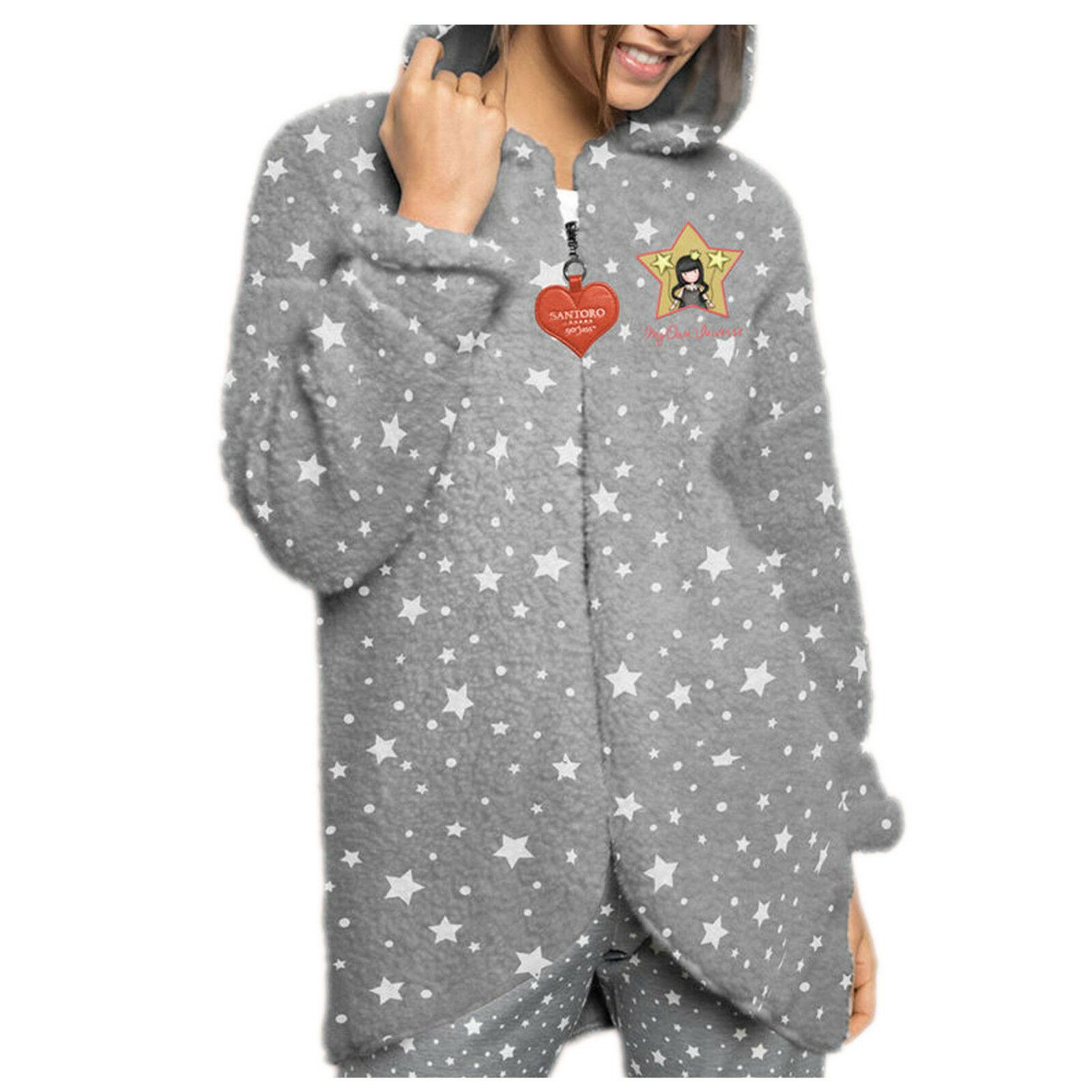 SANTORO GORJUSS vestaglia 3/4,giacca da camera in morbido e caldo Corel donna/ba