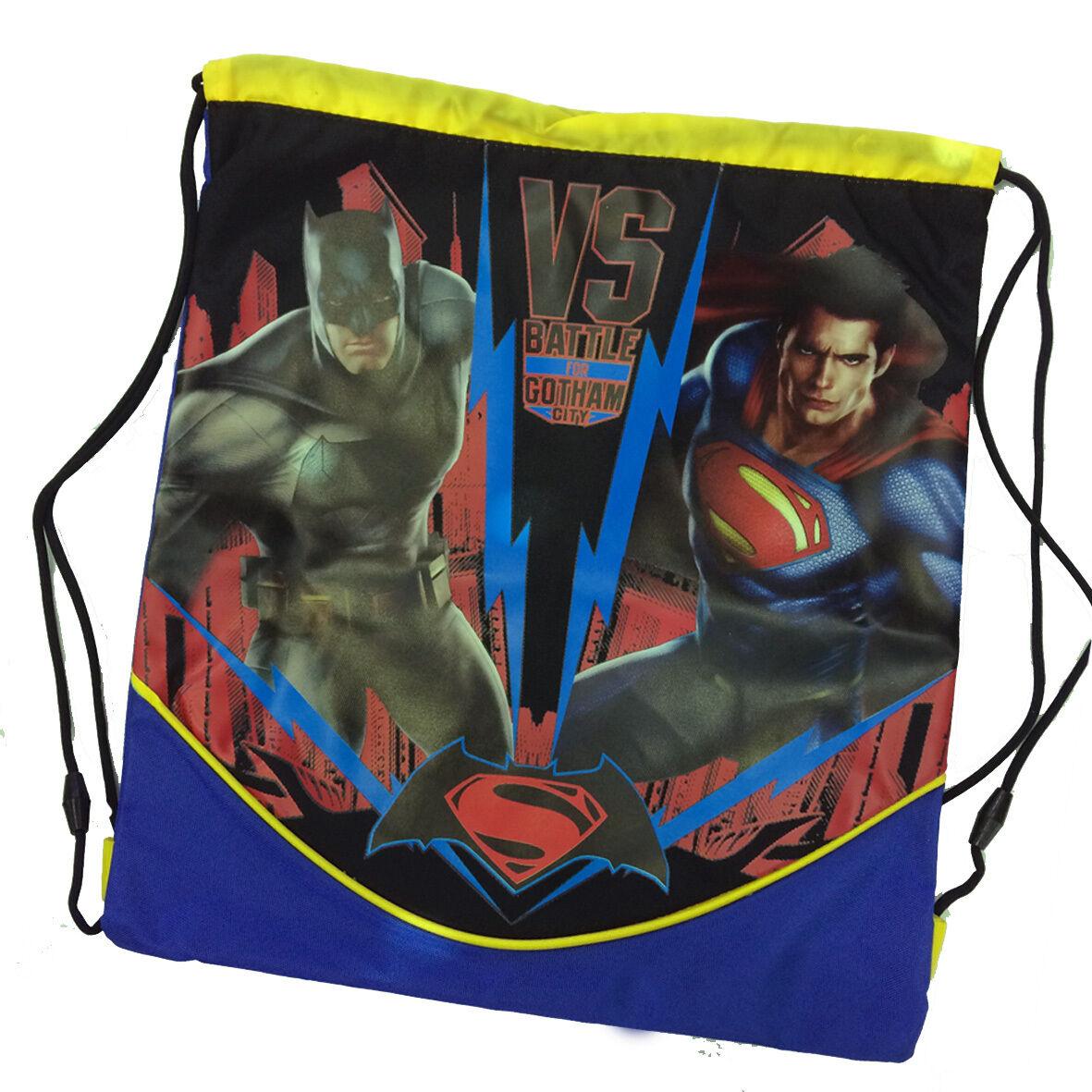 BATMAN VS SUPERMAN Sacca zaino coulisse in cordura pesante 40x36 cm by panini