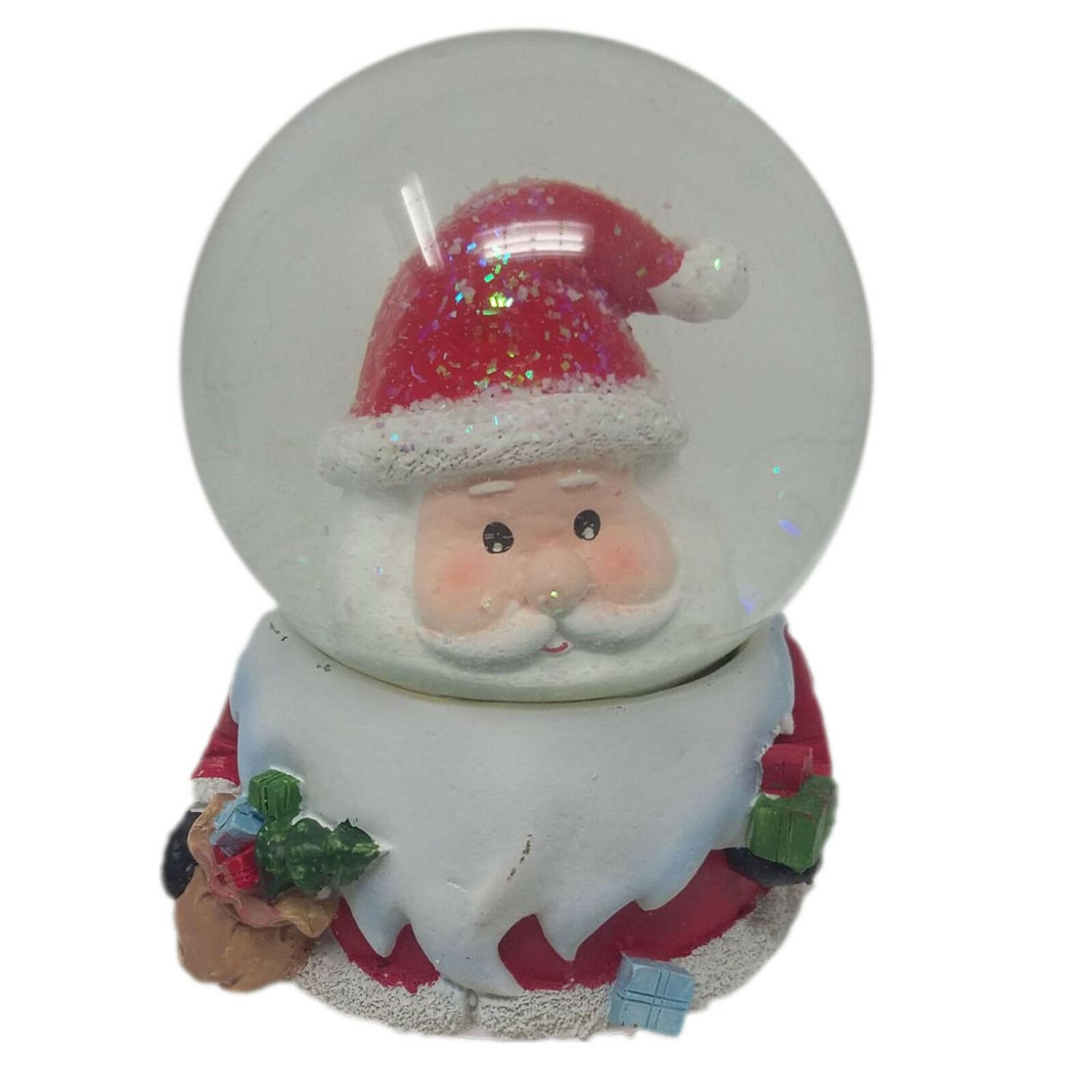 NATALE decorazione natalizia palla di vetro BABO NATALE CARILLON EFFETTO NEVE