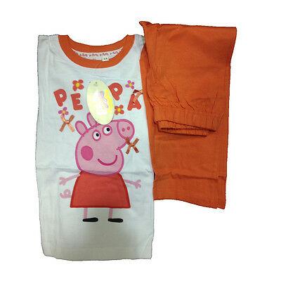 PEPPA PIG piagiama maglia maniche lughe e pantaloni lunghi in cotone da bambina