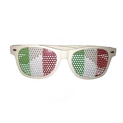 Occhiali ITALIA con lenti pellicola tricolore per europei 2016