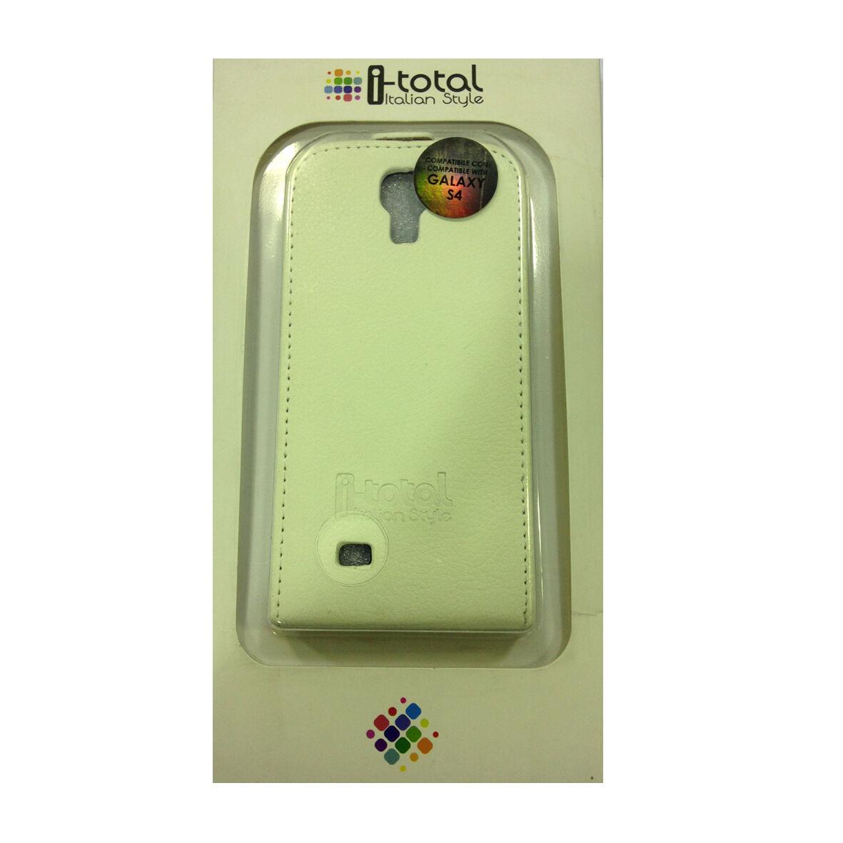COVER mascherina iphone SAMSUNG GALAXY S4 bianca a portafoglio eco-pelle