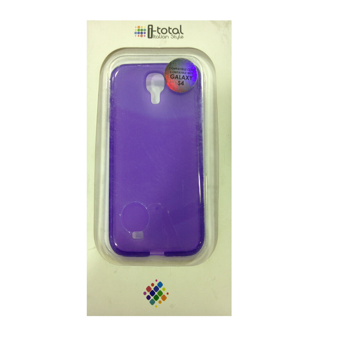 COVER mascherina SAMSUNG GALAXY S4 viola in silicone morbida I-TOTAL