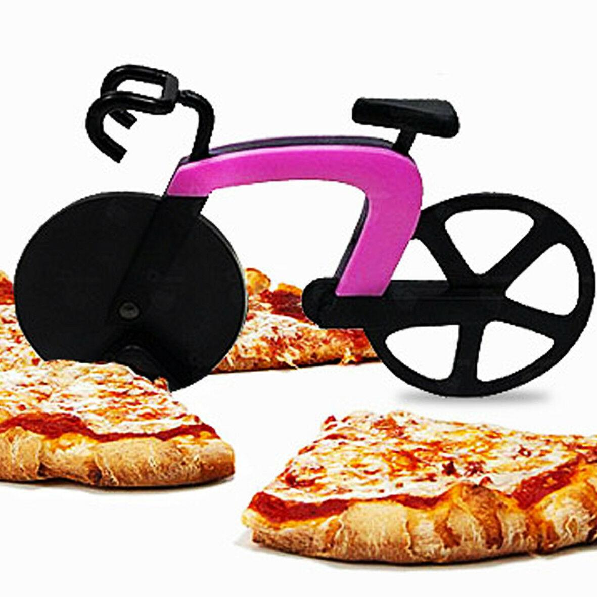 BICI-Bicicletta da corsa taglia pizza in acciaio inossidabile,3 colori diam. 7,5