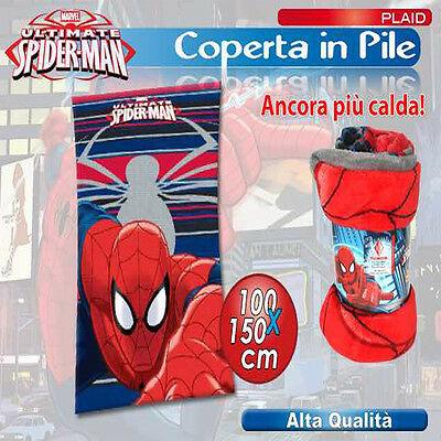 PLAID MORBIDO SPIDERMAN UOMO RAGNO 100X150 CM