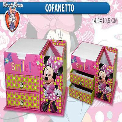 cassettiera TOPOLINA MINNIE porta gioie con block notes/porta penne cm14,5x10,5