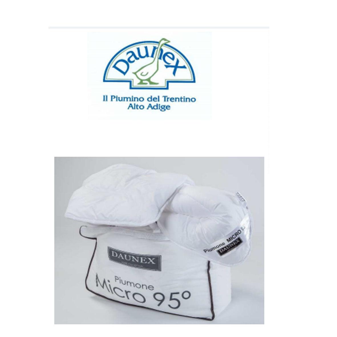 PIUMINO micro 95° 100%poliestere-microfibra lavabile in lavatrice a 95°antiacaro