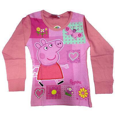 PEPPA PIG maglia rosa maniche lunghe in cotone taglia 6 anni da bambina