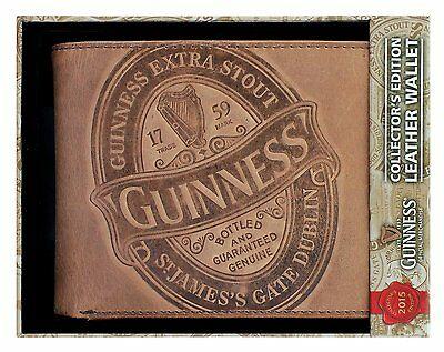 Portafoglio Guinness pelle marrone label