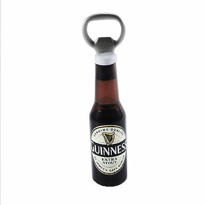 Apribottiglia Guinness a forma di bottiglia di birra 3D con calamita per frigo
