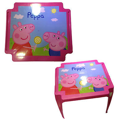 PEPPA PIG tavolo in plastica rosa 44hx55x50 cm da bambina