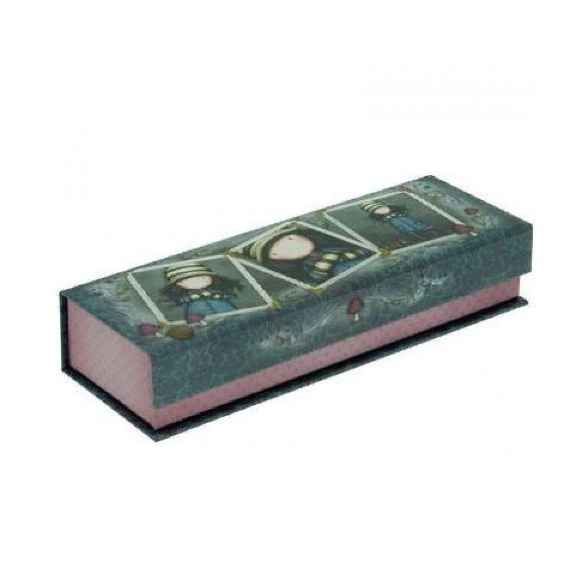 GORJUSS Portapenne e matite pencil box in cartone stampato grigio 20x7x4 cm