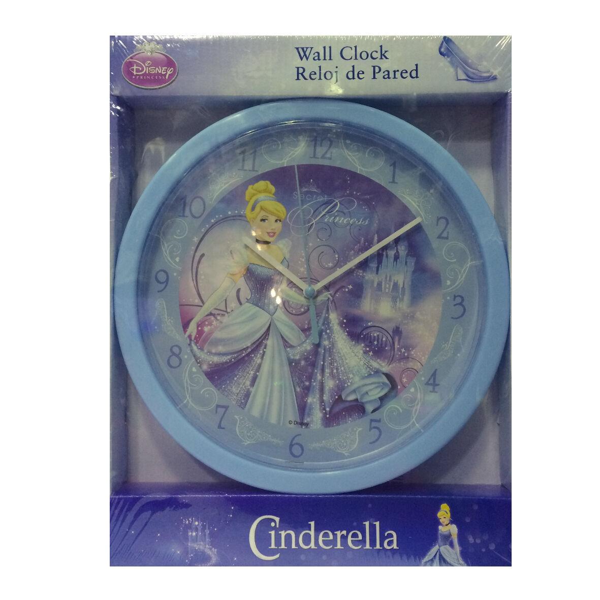 PRINCIPESSE CENERENTOLA orologio da parete azzurro 25 cm idea regalo