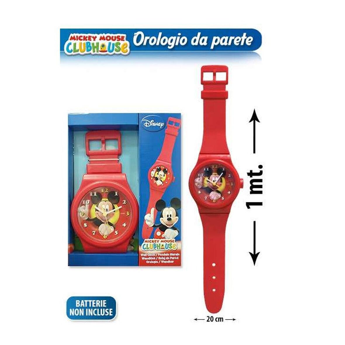 TOPOLINO MICKEY MOUSE orologio da polso per parete rosso 100 cm idea regalo