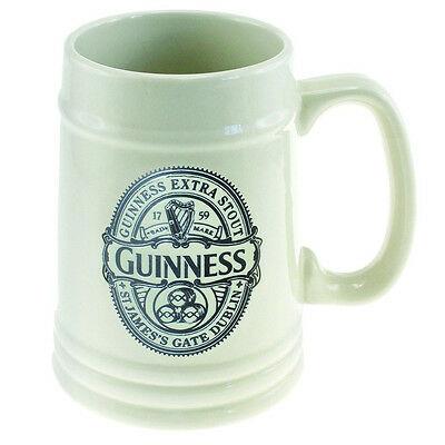 Boccale Guinness ceramica crema con logo in rilievo grigio scuro 500 ml