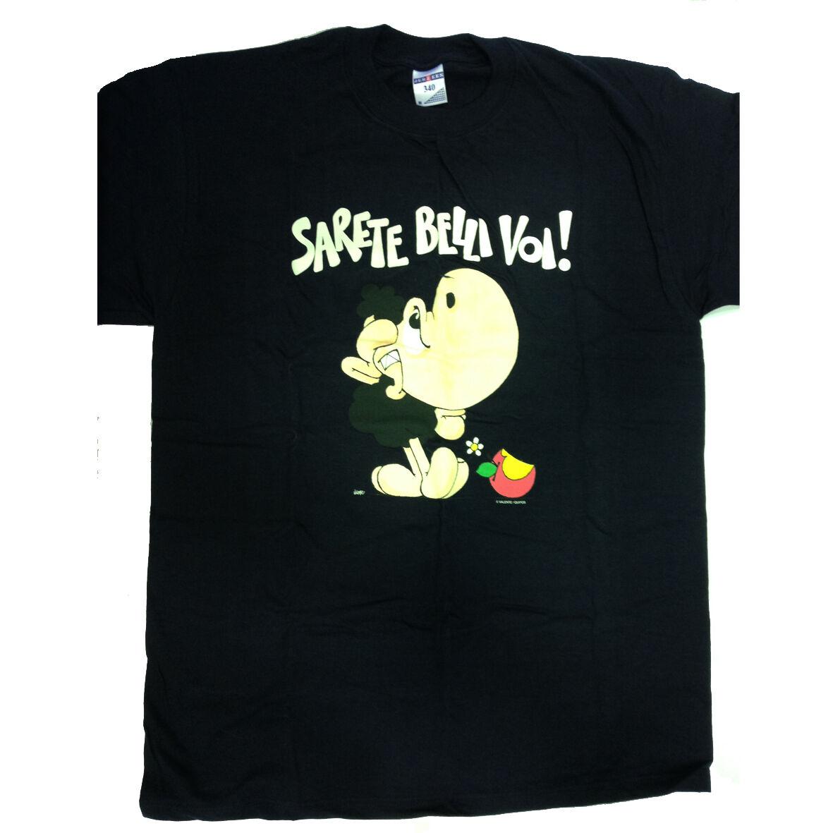 T-shirt umoristiche PECORA NERA 100% cotone blu SARETE BELLI VOI