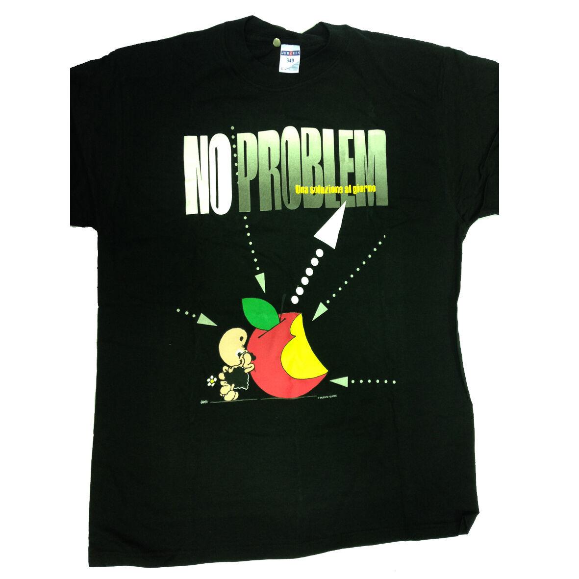 T-shirt umoristiche PECORA NERA 100% cotone nera NO PROBLEM