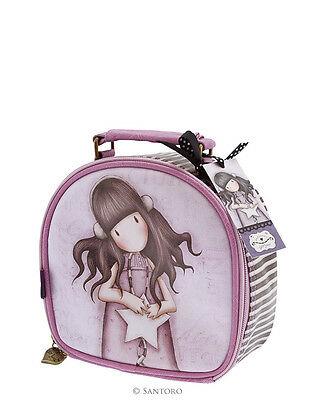 Beauty case Gorjuss piccolo ecopelle tasca zip interna colore lilla by SANTORO