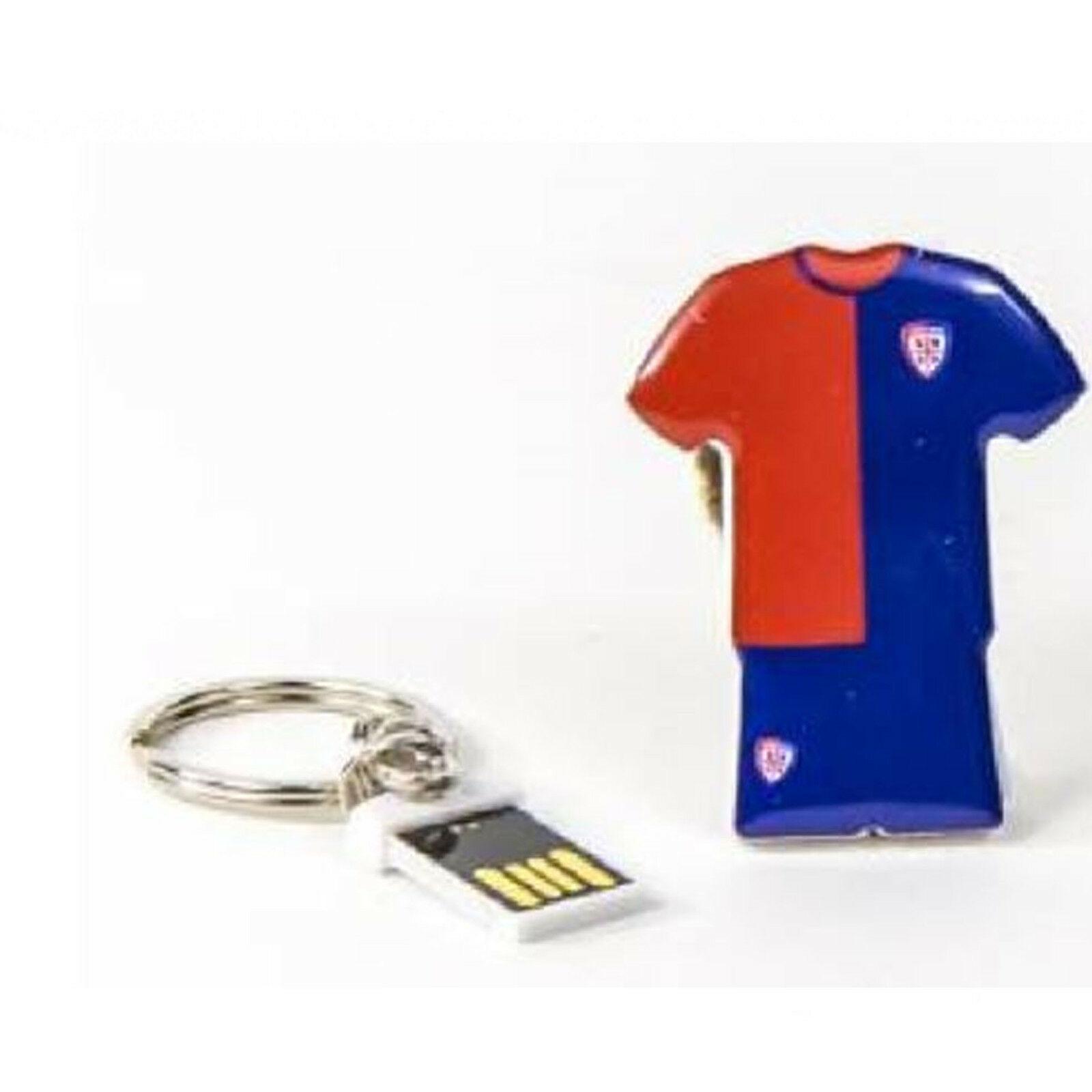 CAGLIARI CALCIO USB MAGLIA 8GB CAGLIARI CALCIO - CON ANELLO PORTACHIAVI