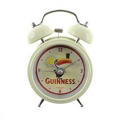 Sveglia Guinness bianca panna a batteria idea regalo 8 cm di diametro