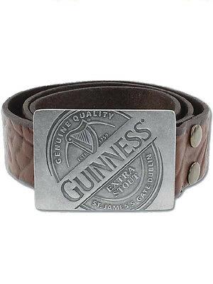 Cintura Guinness in pelle s/m 86 cm o m/l 106cm borchia logo  arpa
