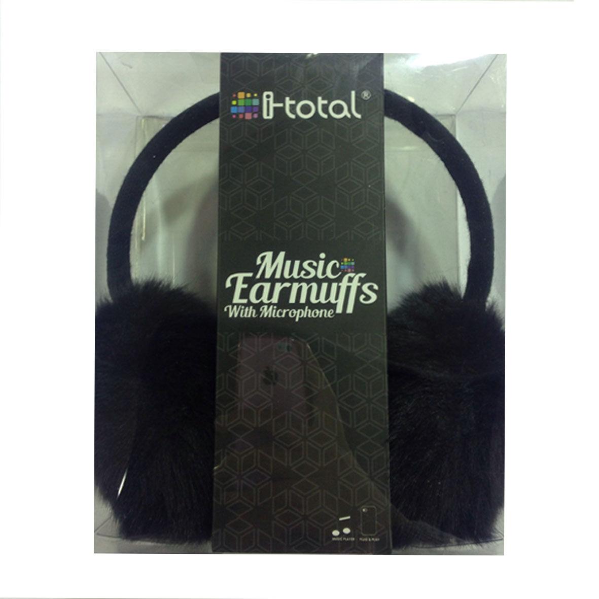 Cuffie paraorecchie morbido peluches stereo nere con microfono, controllo volume