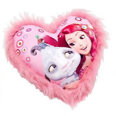 MIA E ME cuscino in peluche rosa con disegno sul davanti 28x33 cm da bambina