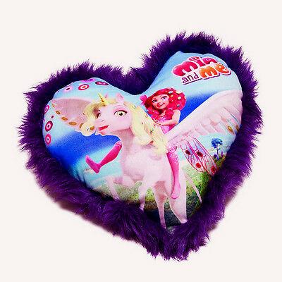 MIA E ME cuscino in peluche viola con disegno sul davanti 28x33 cm da bambina